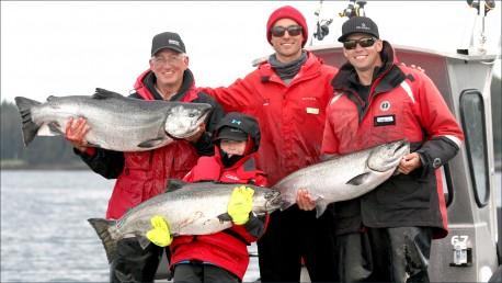 Family Fishing Success