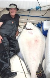 234 pound halibut at QCL