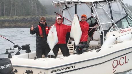 Halibut fishing at QCL