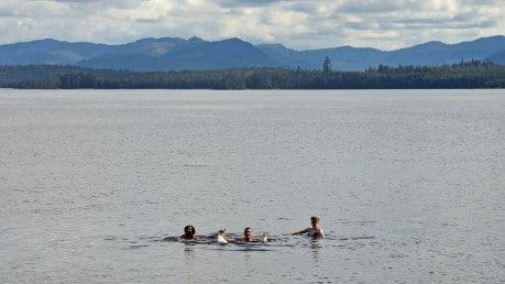 QCL staff swimming