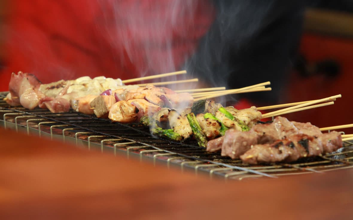 QCL dining kebabs at the Bell Ringer
