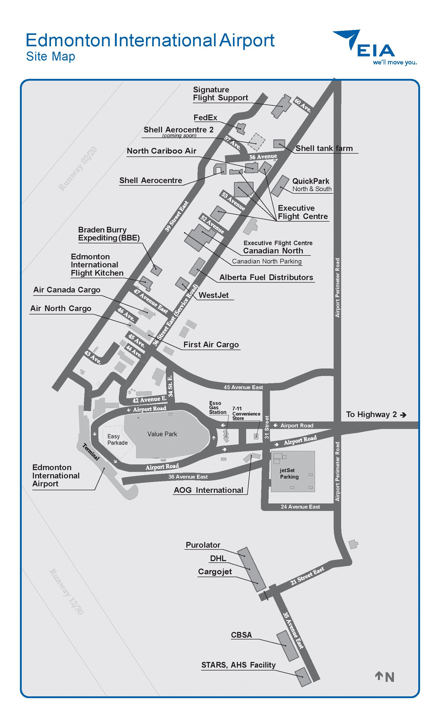 Edmonton Airport map