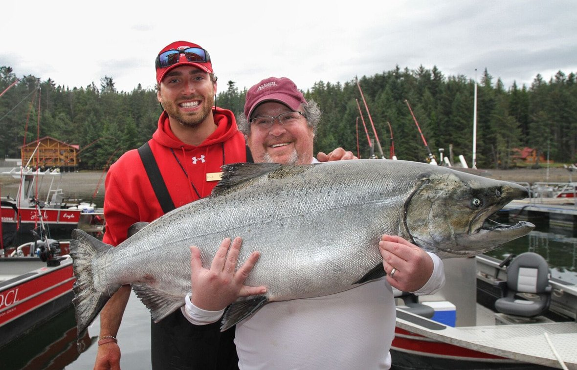 Haida Gwaii guided salmon fishing adventure