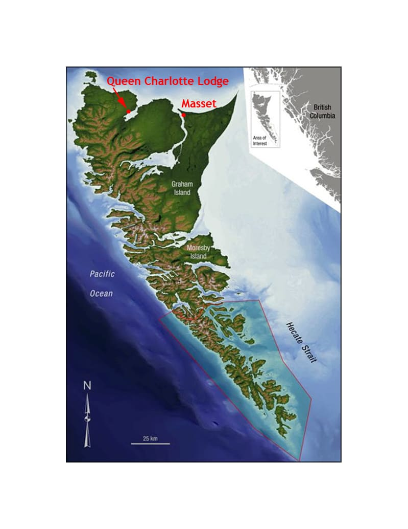 Haida Gwaii Islands map