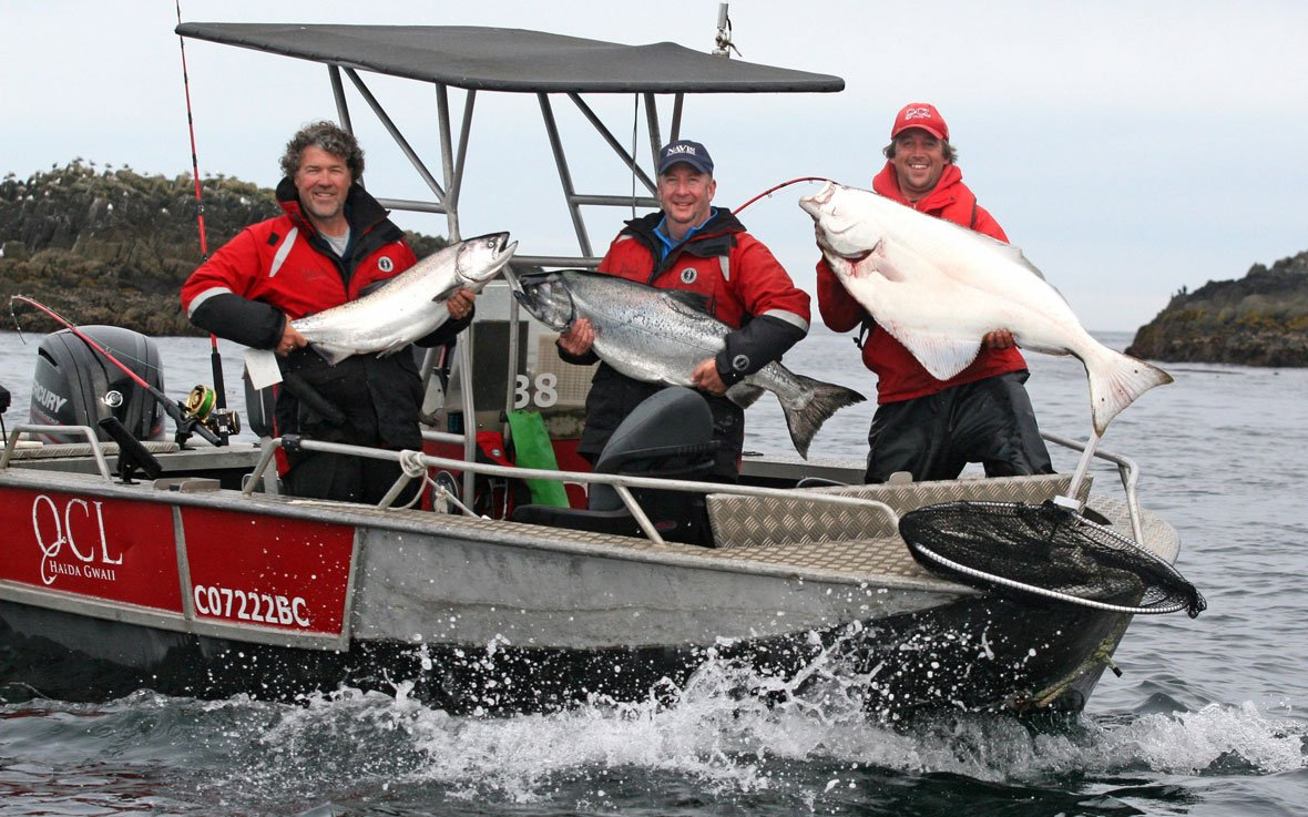 QCL corporate adventure chinook salmon and halibut fishing