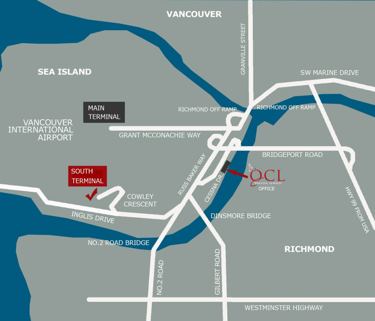 Vancouver International Airport and QCL head office