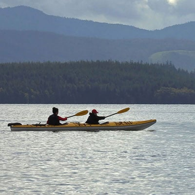 Kayaking and explore Naden Harbour