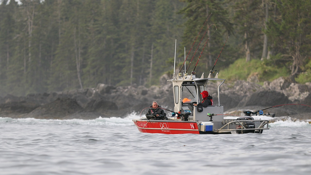 Salmon fishing at QCL