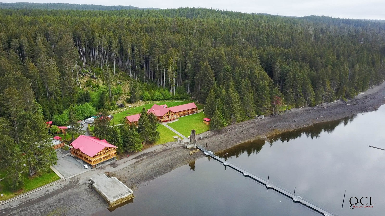 QCL Lodge Aerial Shot