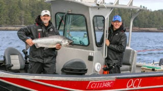 Chinook salmon fishing at QCL