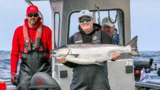 Tyee Chinook salmon at QCL Haida Gwaii