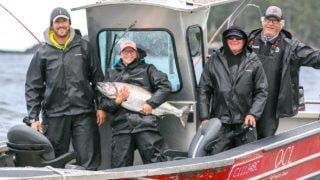 Chinook salmon fishing at QCL Haida Gwaii
