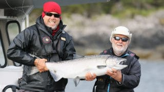 Tyee Chinook salmon at QCL