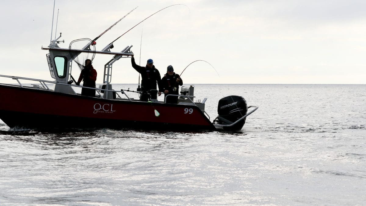 Salmon trolling at QCL Haida Gwaii