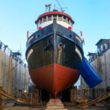 MV Driftwood in drydock