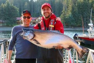 Tyee salmon at QCL
